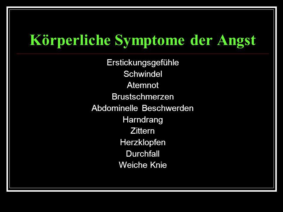 Körperliche Symptome der Angst