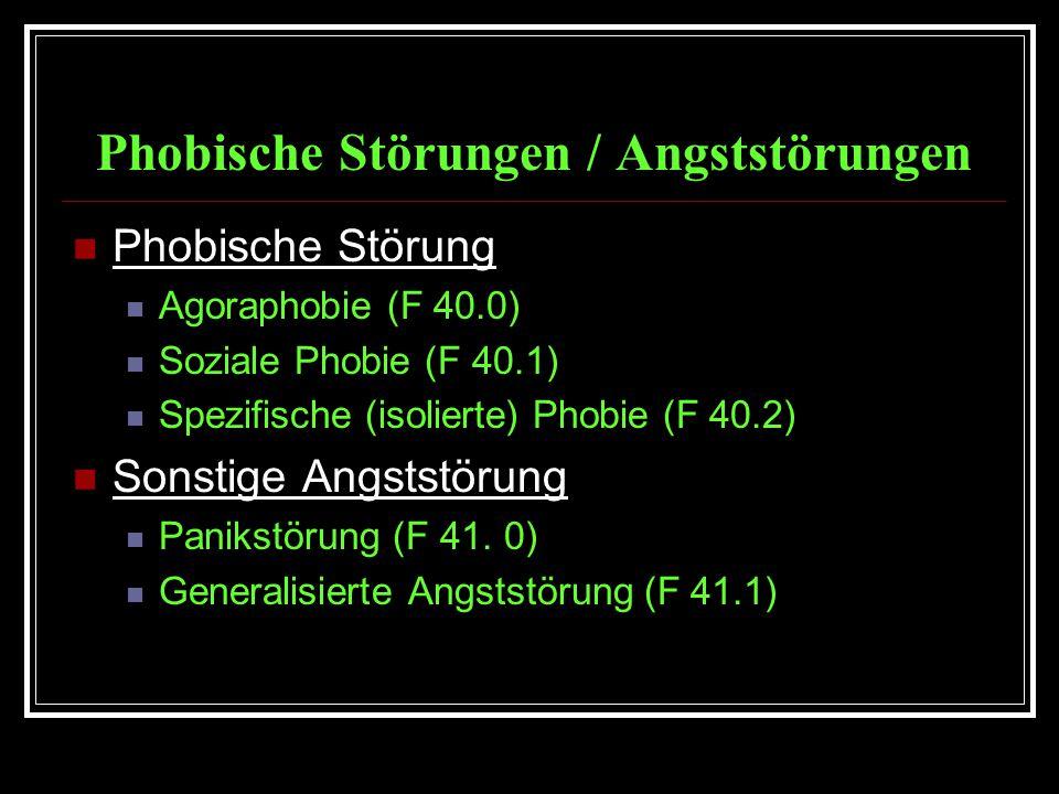 Phobische Störungen / Angststörungen