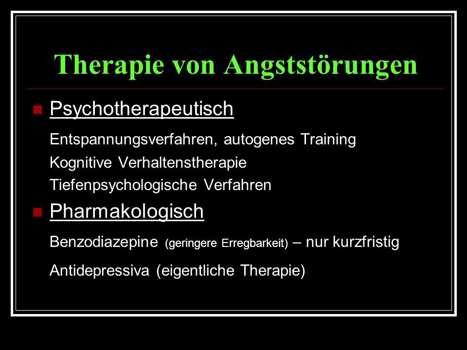 Therapie von Angststörungen