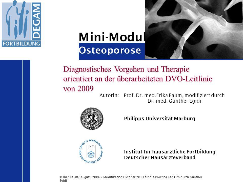 Mini-Modul Osteoporose