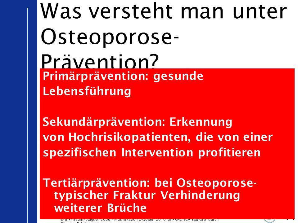 Was versteht man unter Osteoporose-Prävention