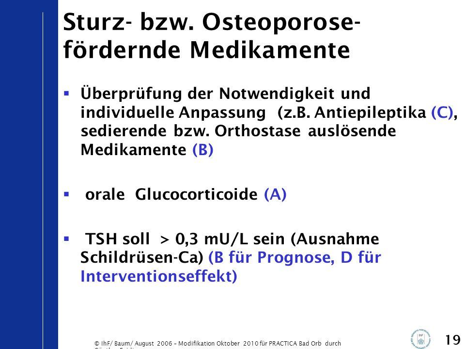 Sturz- bzw. Osteoporose-fördernde Medikamente