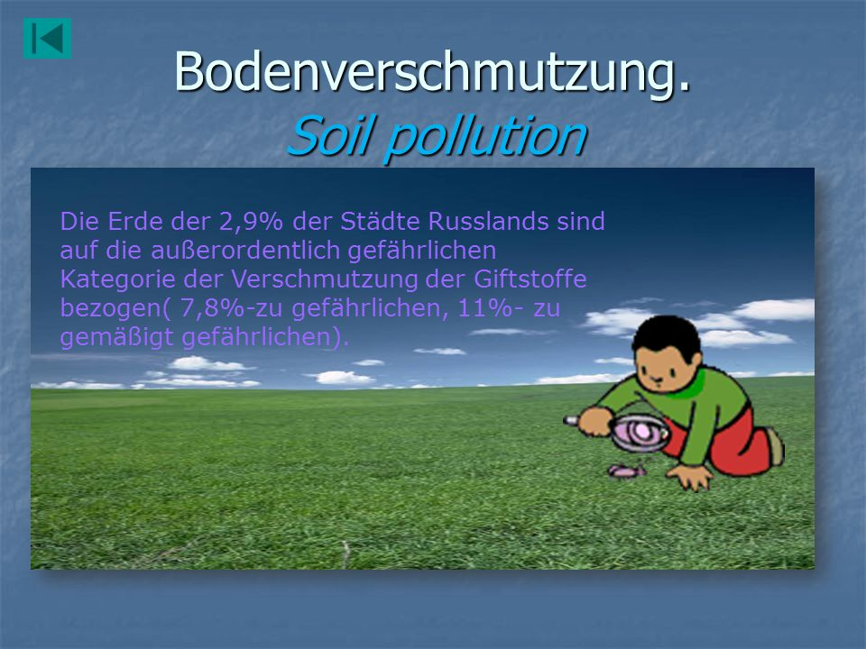 Bodenverschmutzung. Soil pollution