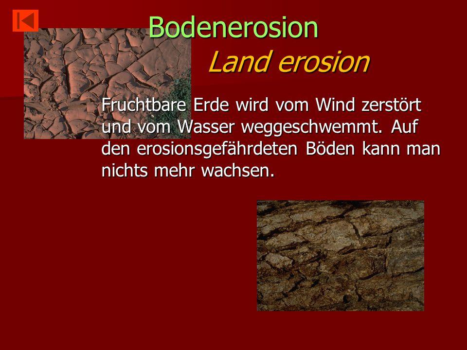 Bodenerosion Land erosion