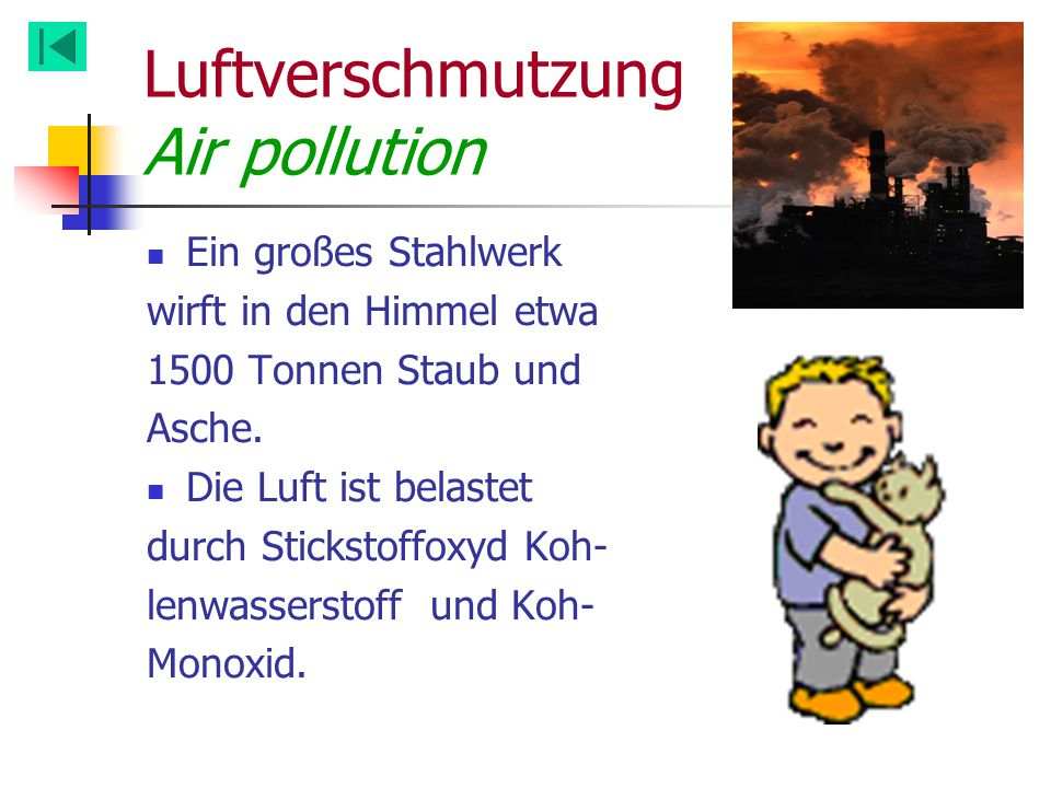 Luftverschmutzung Air pollution