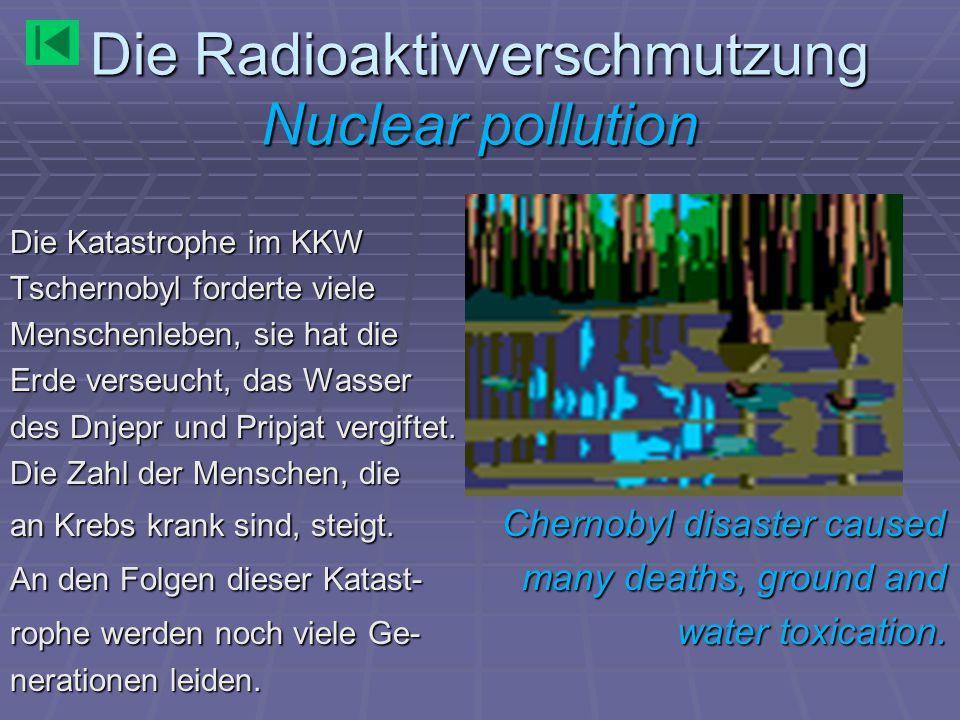 Die Radioaktivverschmutzung Nuclear pollution