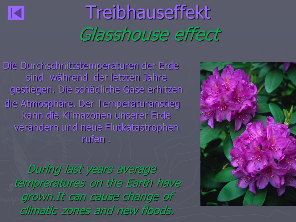 Treibhauseffekt Glasshouse effect