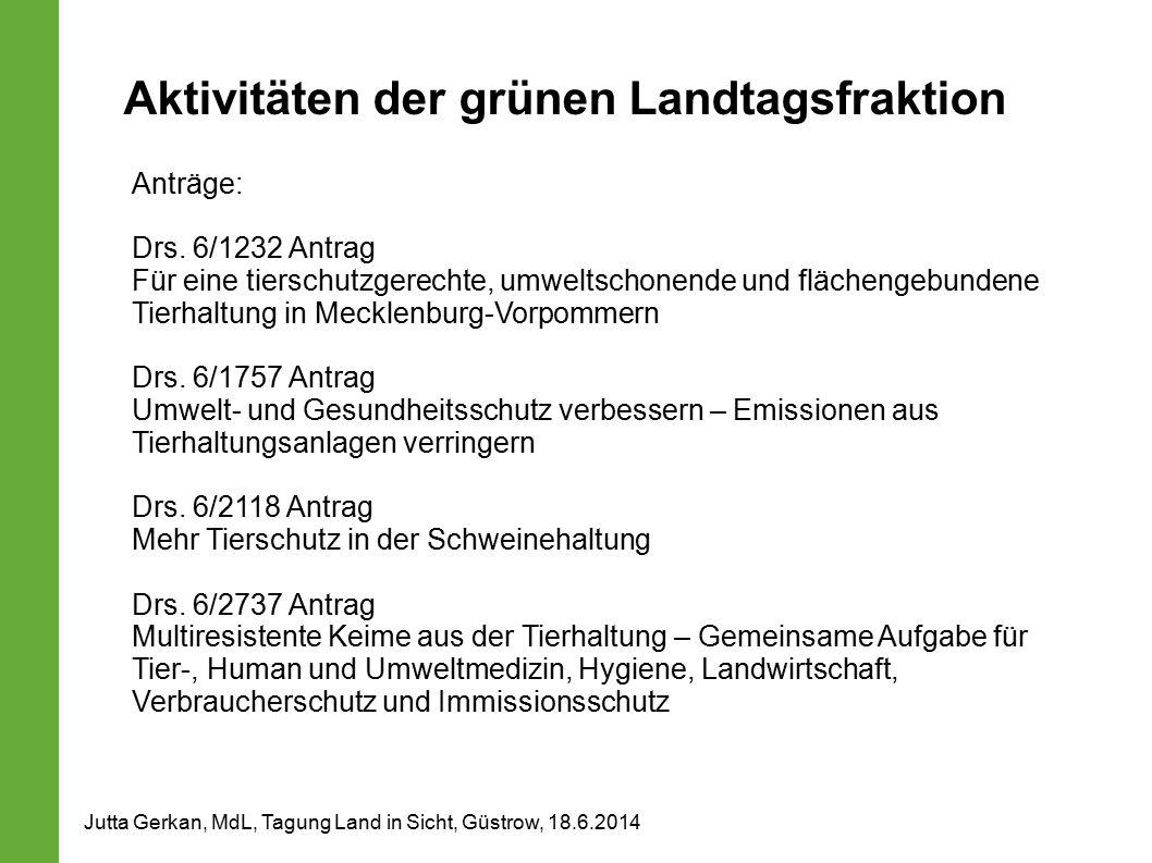 Aktivitäten der grünen Landtagsfraktion
