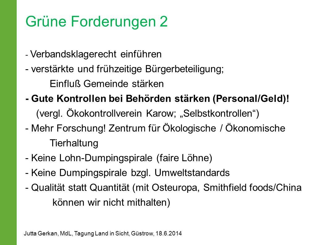 Grüne Forderungen 2 - verstärkte und frühzeitige Bürgerbeteiligung;