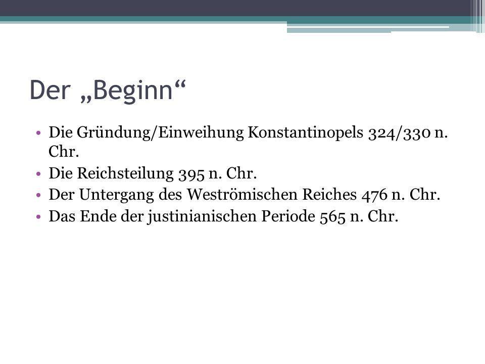 """Der """"Beginn Die Gründung/Einweihung Konstantinopels 324/330 n. Chr."""