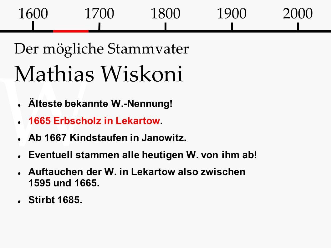 Der mögliche Stammvater Mathias Wiskoni