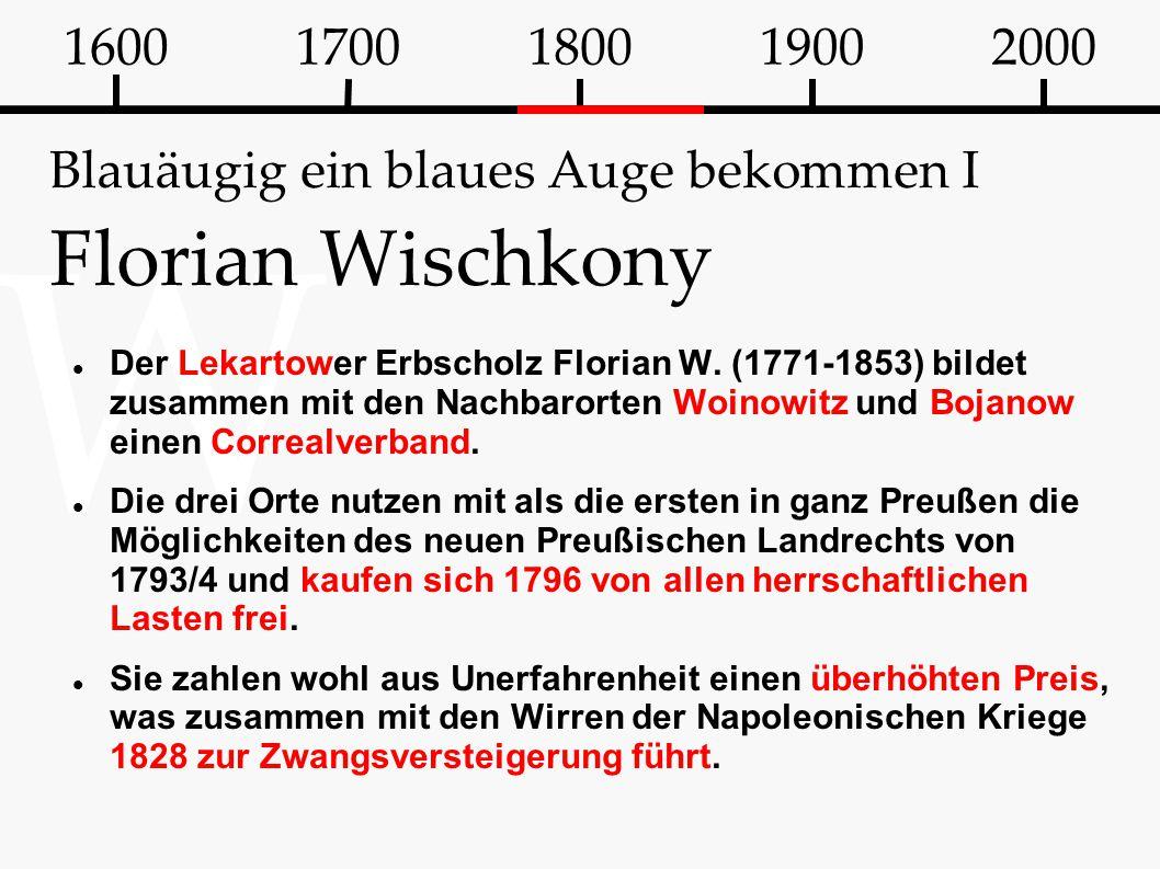 Blauäugig ein blaues Auge bekommen I Florian Wischkony