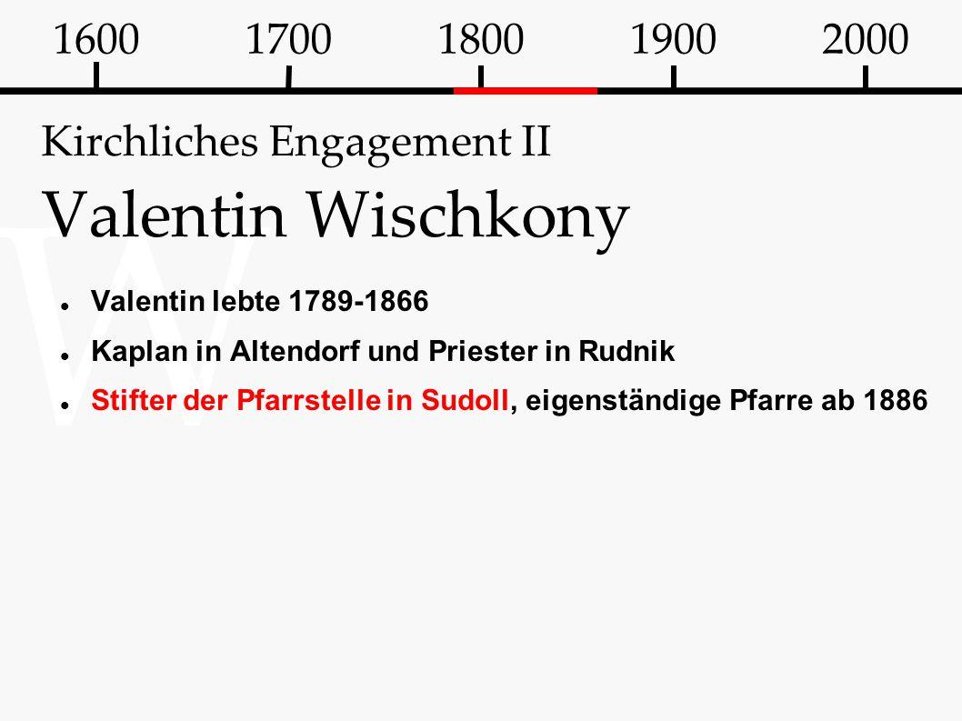 Kirchliches Engagement II Valentin Wischkony