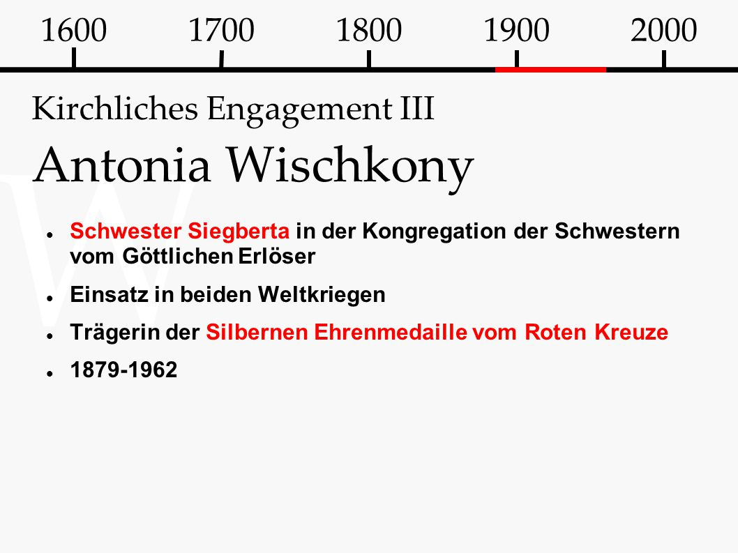 Kirchliches Engagement III Antonia Wischkony