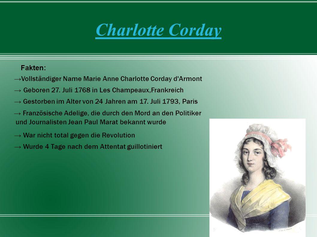 Charlotte Corday Fakten: