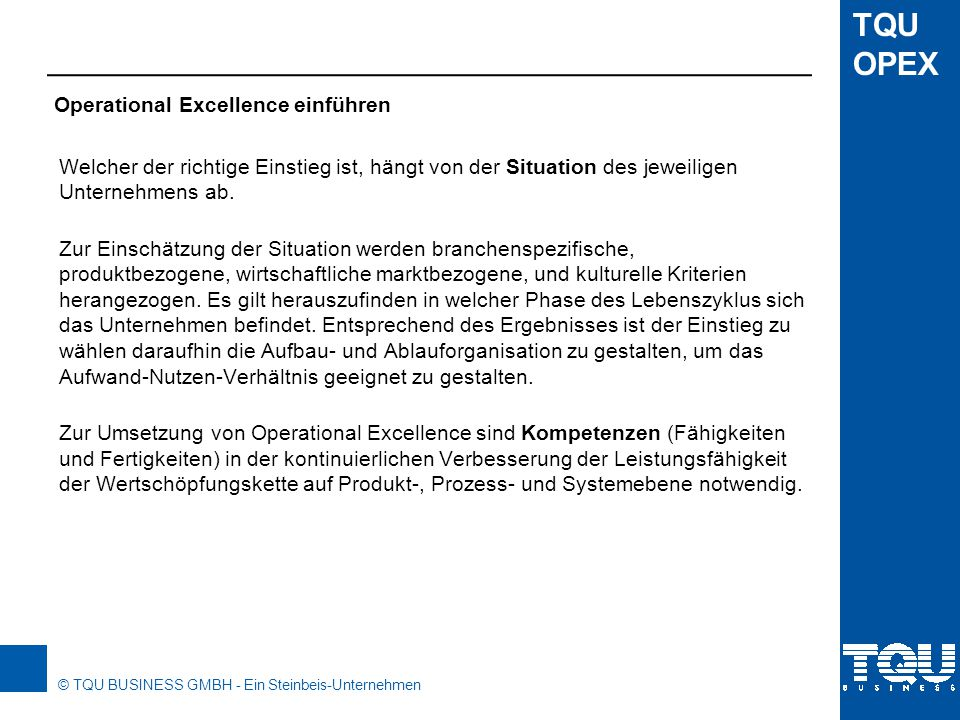 Operational Excellence einführen
