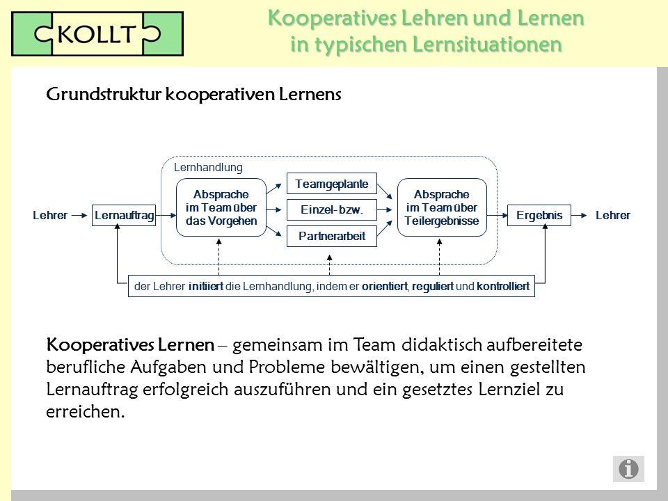 Grundstruktur kooperativen Lernens