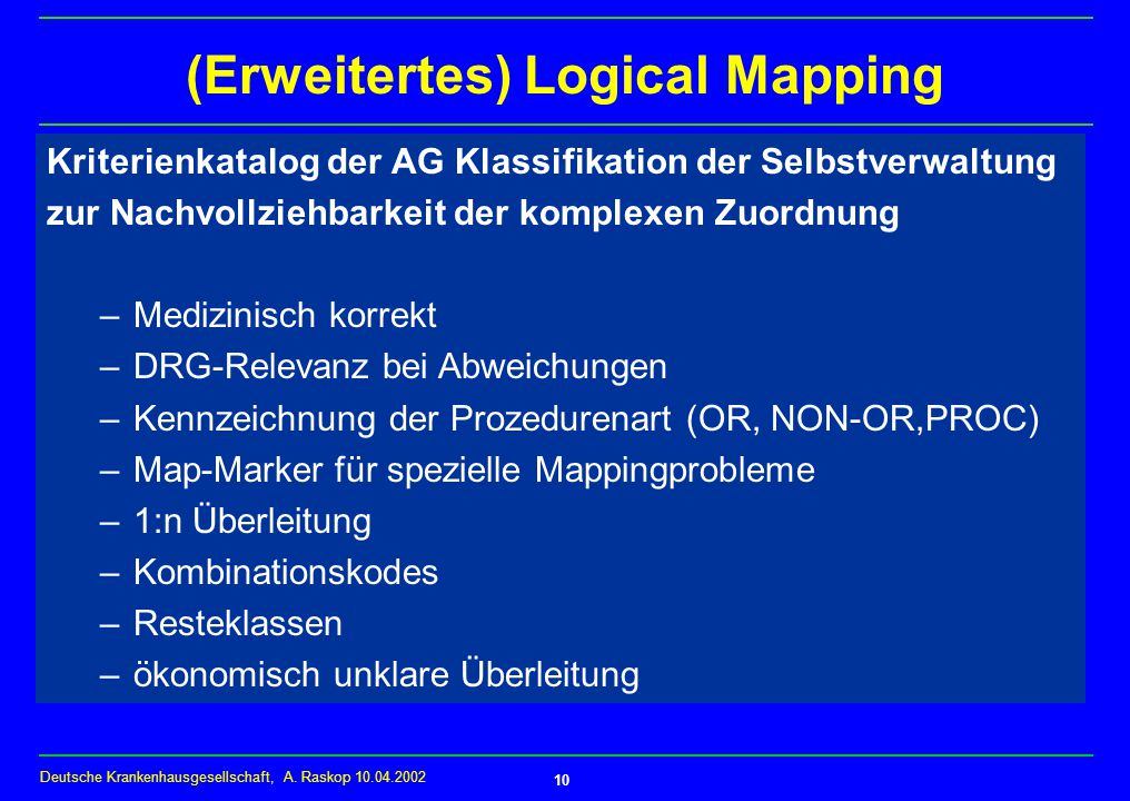 (Erweitertes) Logical Mapping