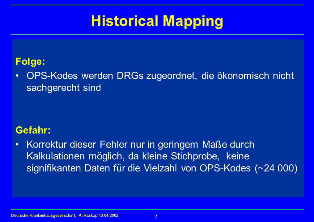 Historical Mapping Folge: