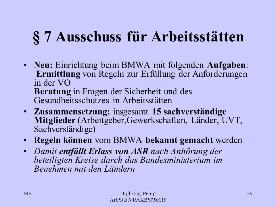 § 7 Ausschuss für Arbeitsstätten