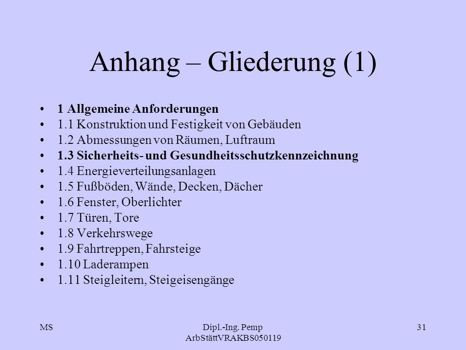 Dipl.-Ing. Pemp ArbStättVRAKBS050119
