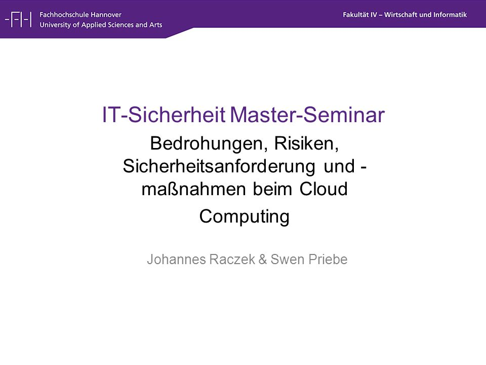 IT-Sicherheit Master-Seminar