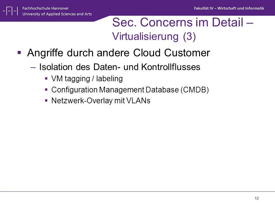 Sec. Concerns im Detail – Virtualisierung (3)