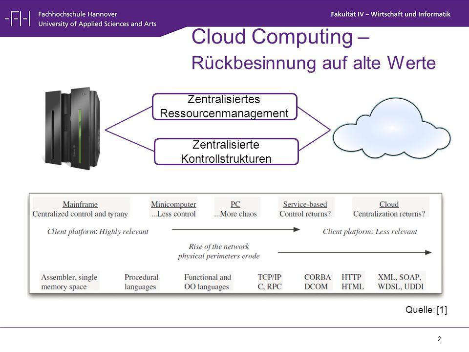 Cloud Computing – Rückbesinnung auf alte Werte