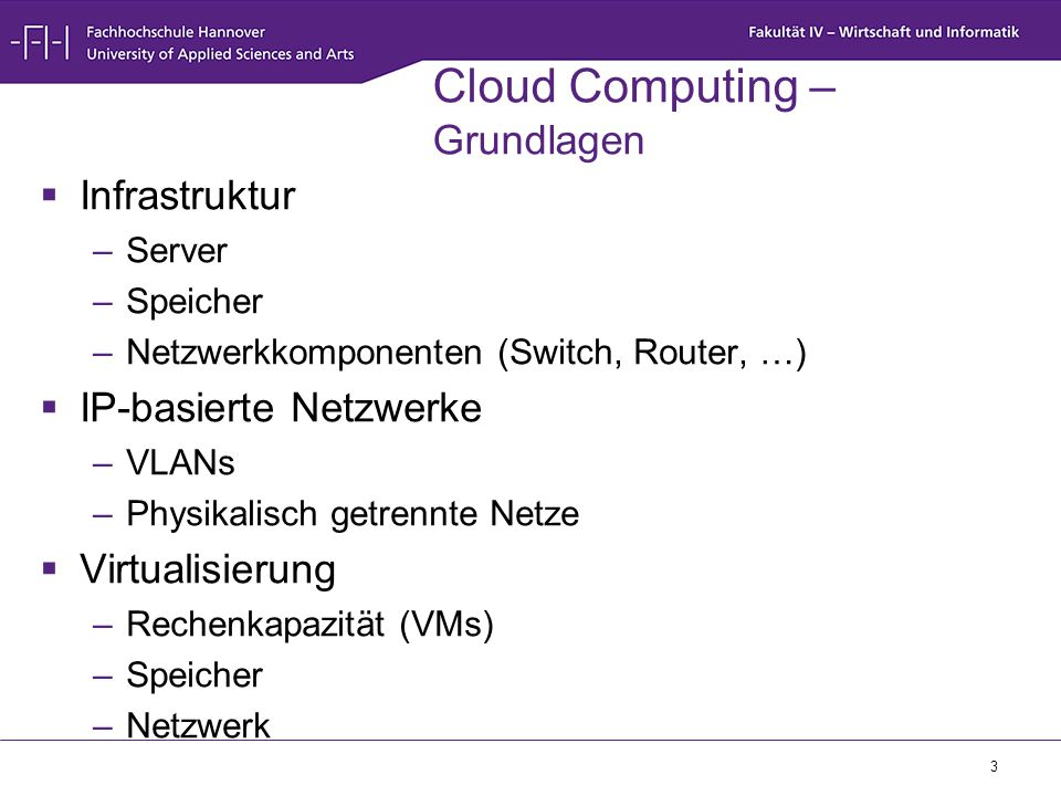 Cloud Computing – Grundlagen