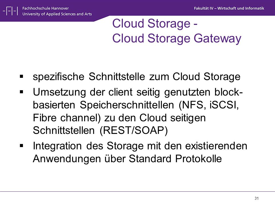Cloud Storage - Cloud Storage Gateway