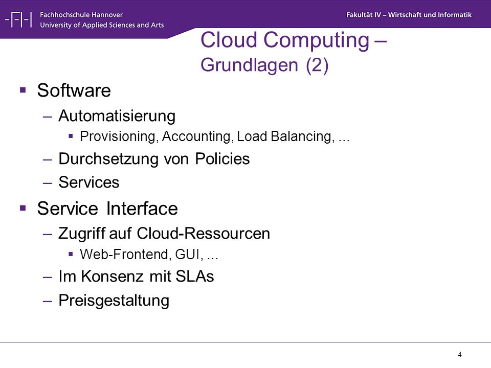 Cloud Computing – Grundlagen (2)