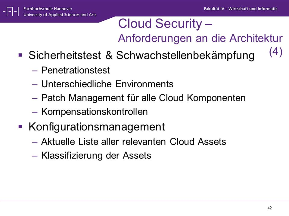 Cloud Security – Anforderungen an die Architektur (4)