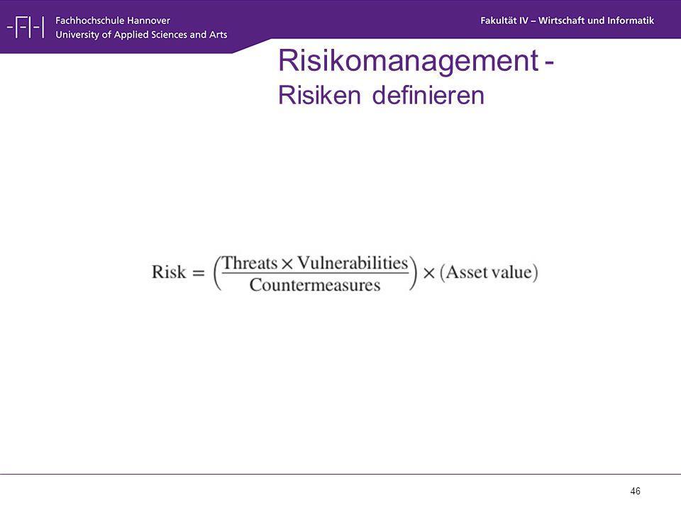 Risikomanagement - Risiken definieren