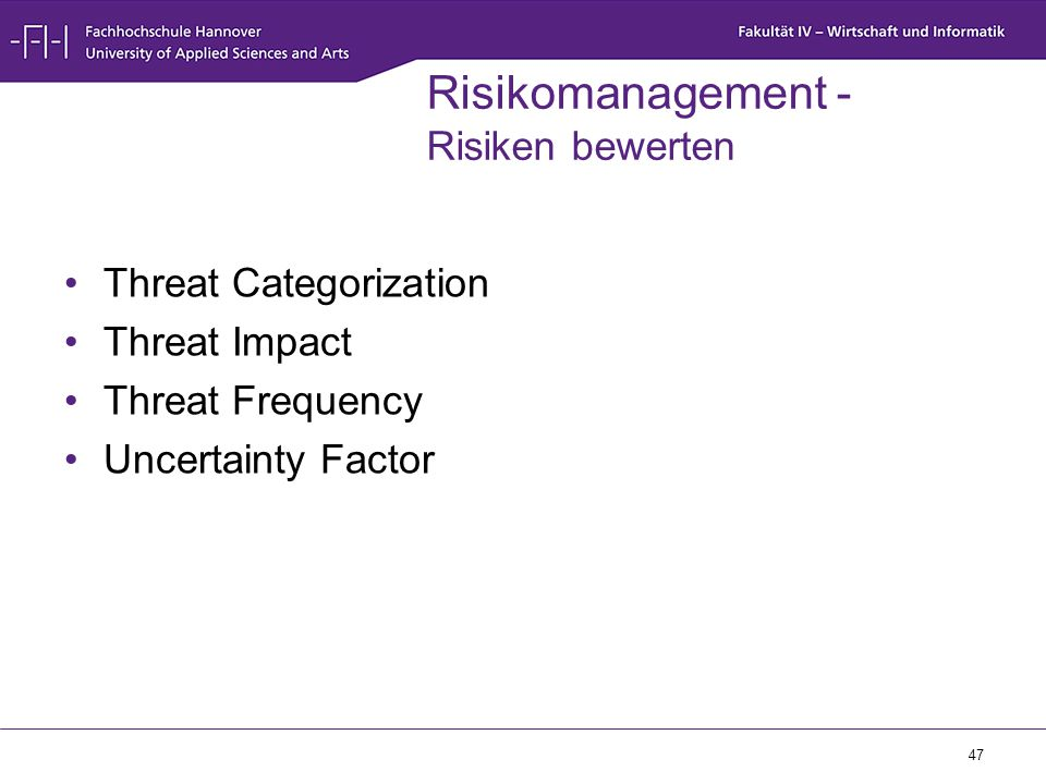 Risikomanagement - Risiken bewerten