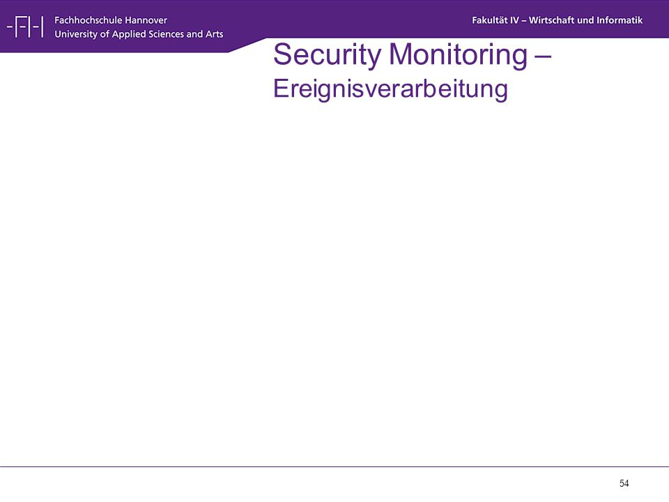 Security Monitoring – Ereignisverarbeitung