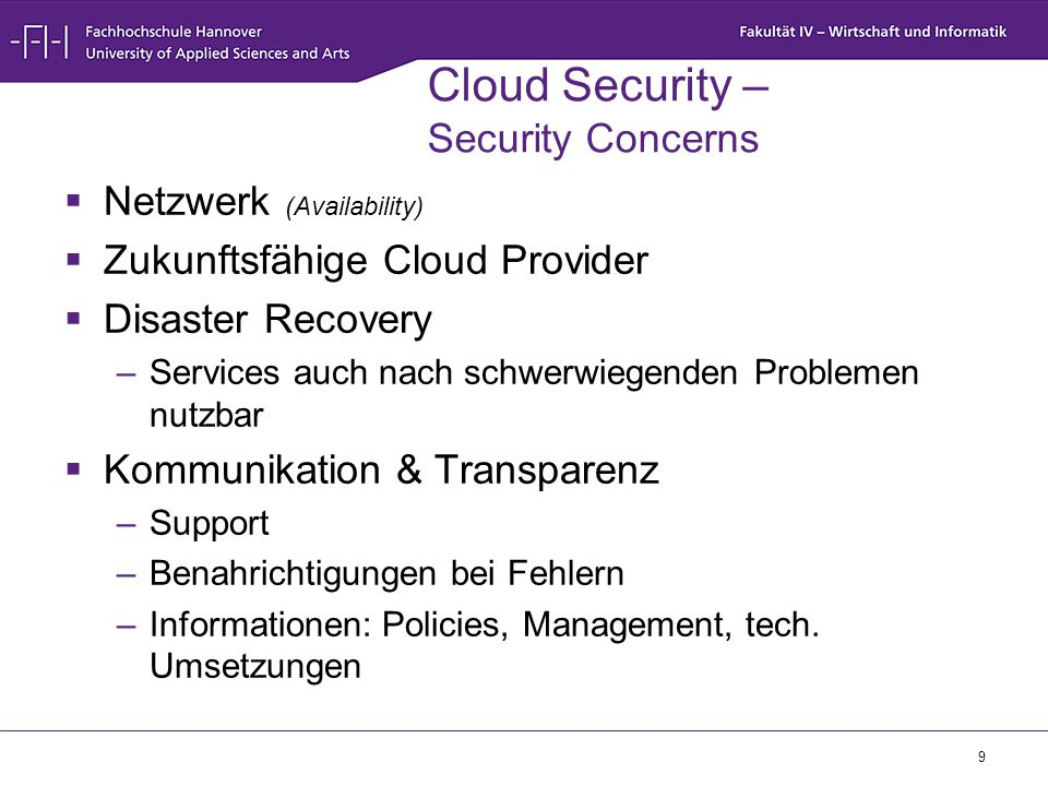 Cloud Security – Security Concerns