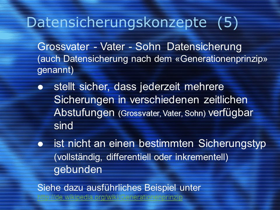 Datensicherungskonzepte (5)
