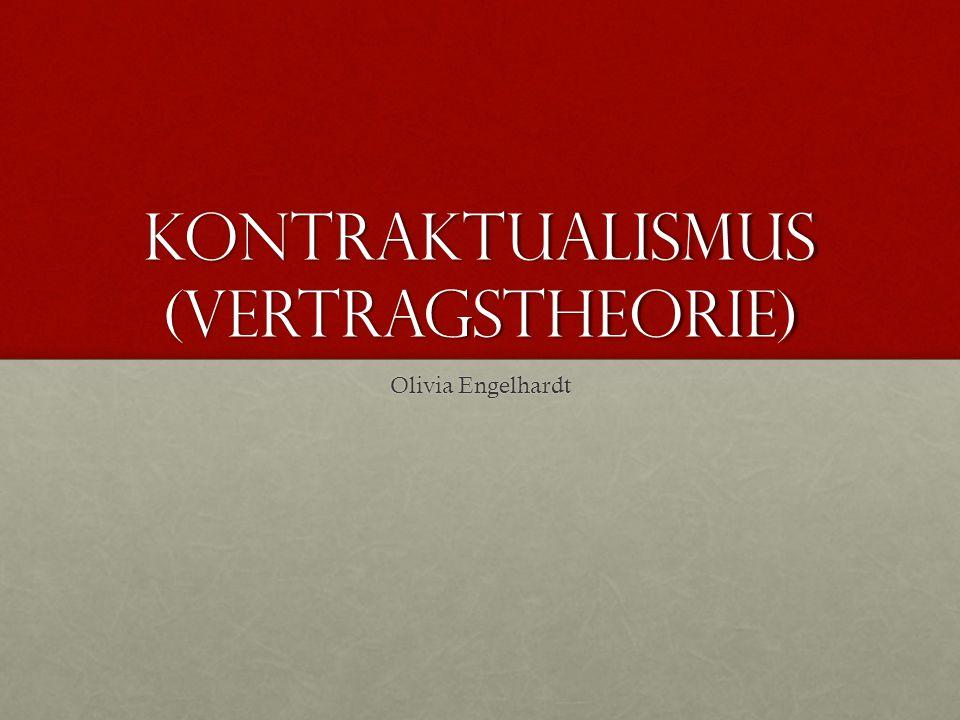 Kontraktualismus (Vertragstheorie)