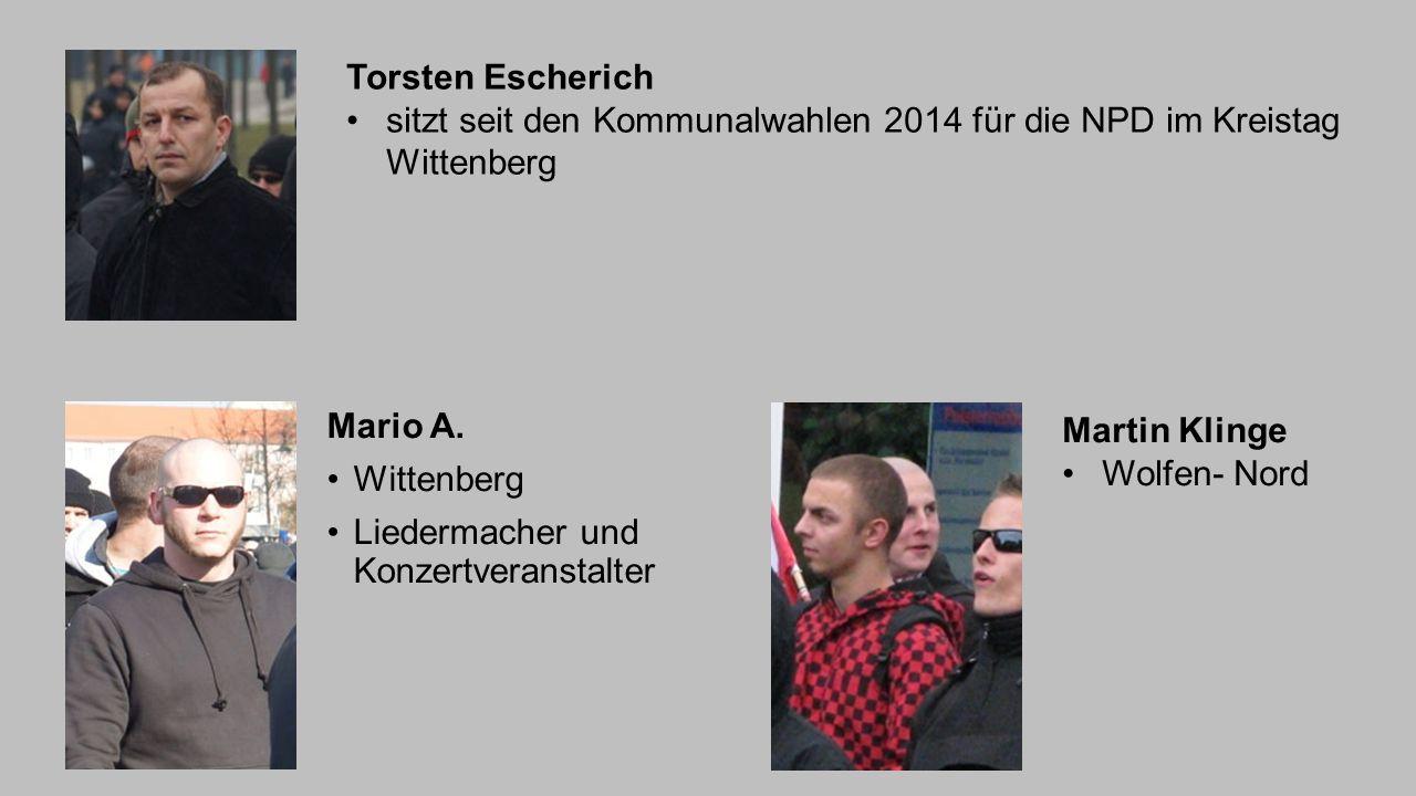 Torsten Escherich sitzt seit den Kommunalwahlen 2014 für die NPD im Kreistag Wittenberg. Mario A. Wittenberg.