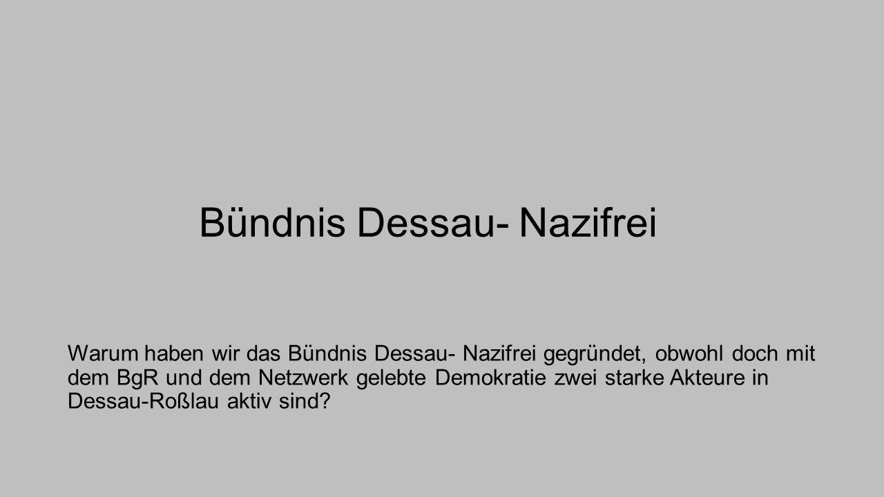 Bündnis Dessau- Nazifrei