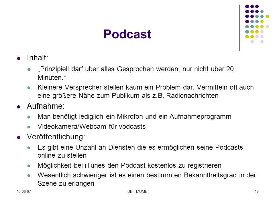 """Podcast Inhalt: """"Prinzipiell darf über alles Gesprochen werden, nur nicht über 20 Minuten."""