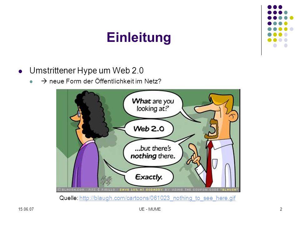 Einleitung Umstrittener Hype um Web 2.0