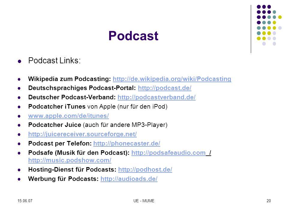 Podcast Podcast Links: