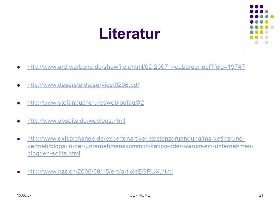 Literatur http://www.ard-werbung.de/showfile.phtml/02-2007_neuberger.pdf foid=19747. http://www.daserste.de/service/0206.pdf.