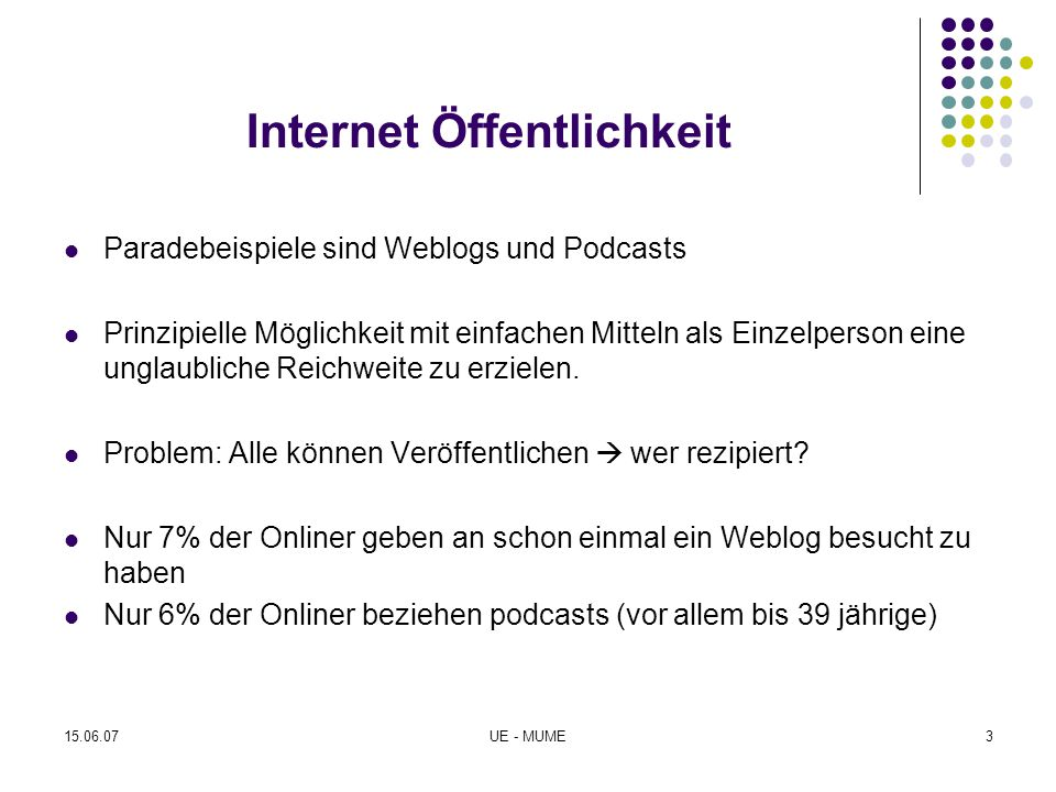 Internet Öffentlichkeit