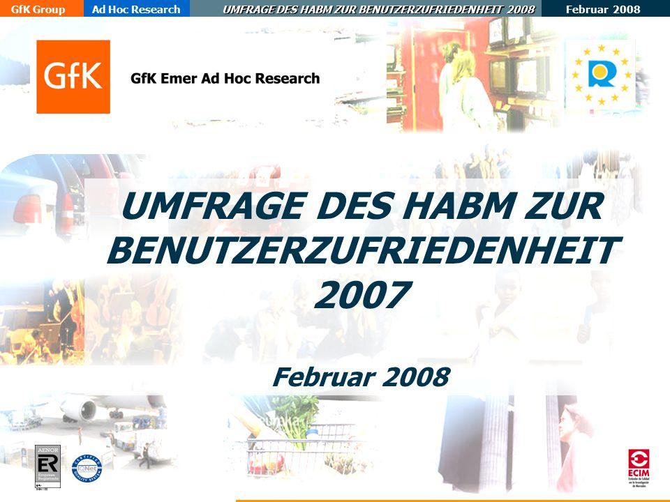 UMFRAGE DES HABM ZUR BENUTZERZUFRIEDENHEIT 2007