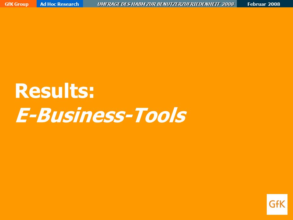 Results: E-Business-Tools