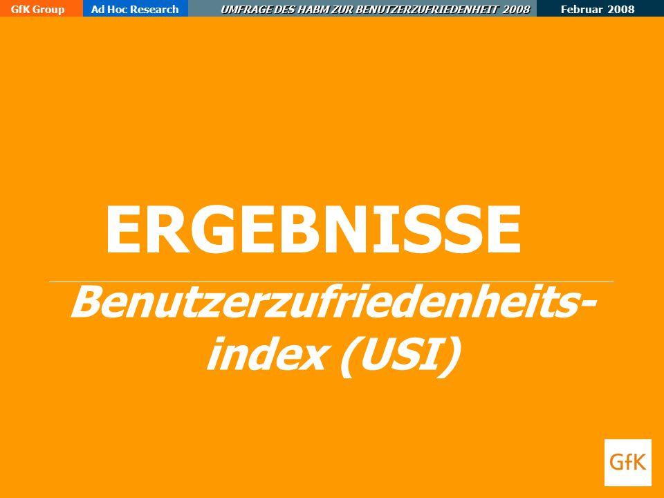 Benutzerzufriedenheits-index (USI)