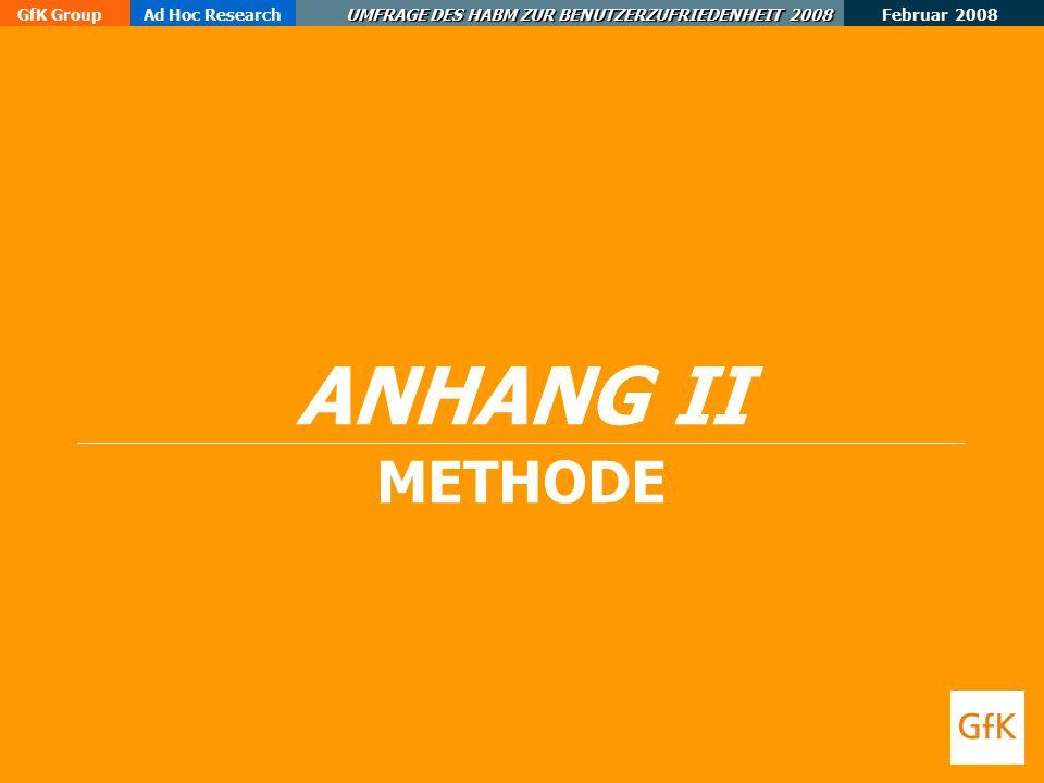 ANHANG II METHODE