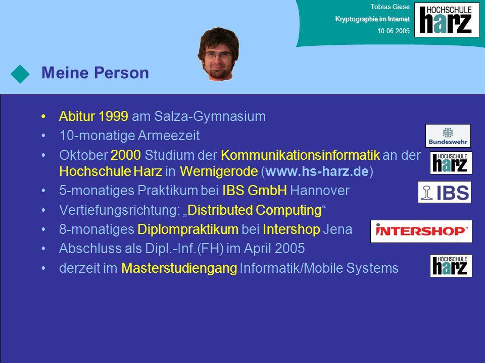 Meine Person Abitur 1999 am Salza-Gymnasium 10-monatige Armeezeit